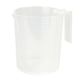 Målebæger hvid plast 1 l.