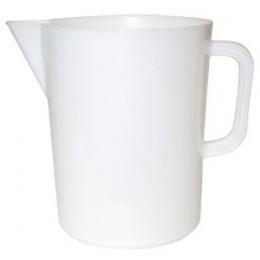 Målebæger hvid plast 5 l.